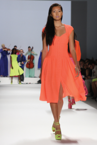 sukienka pomarańcz
