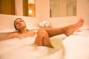 w kąpieli